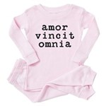 amor vincit omnia Toddler Pink Pajamas