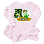 Happy St. Patricks Day Toddler Pink Pajamas