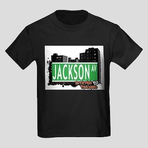 JACKSON AVENUE, STATEN ISLAND, NYC Kids Dark T-Shi