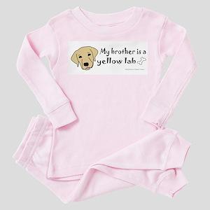 yellow lab gifts Toddler Pink Pajamas