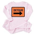 Detour Sign - Toddler Pink Pajamas