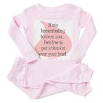 Feel free breastfeeding Toddler Pink Pajamas