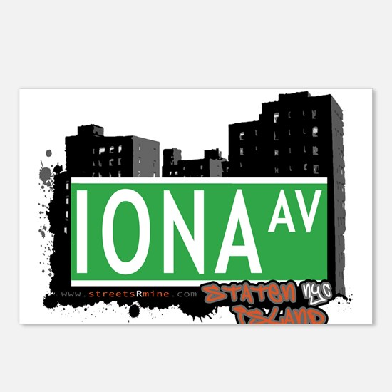 IONA AVENUE, STATEN ISLAND, NYC Postcards (Package