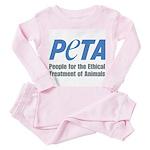 PETA Logo Toddler Pink Pajamas