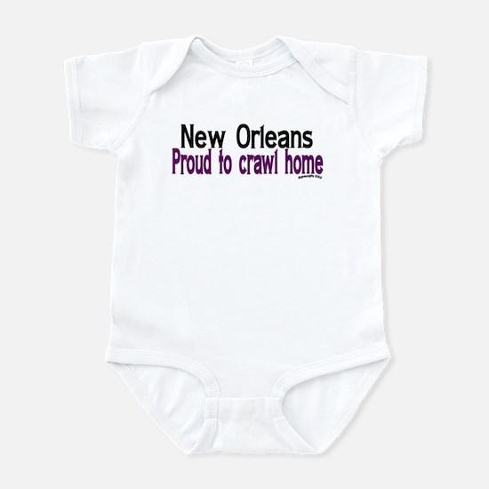 NOLA Crawl Home Infant Bodysuit