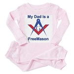 Pop is a Freemason Toddler Pink Pajamas