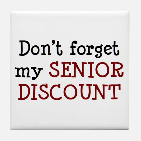 senior discount Tile Coaster
