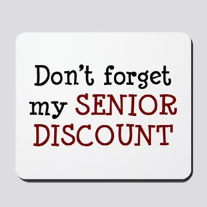 senior discount Mousepad