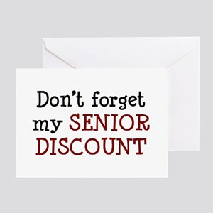 senior discount greeting card - Discount Greeting Cards