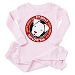 Pit Bulls: Just Love 'Em! Toddler Pink Pajamas