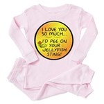 Pee on Your Jellyfish Sting Toddler Pink Pajamas