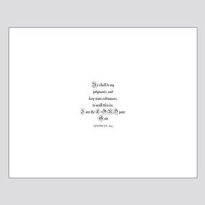 LEVITICUS  18:4 Small Poster