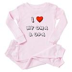 I Love My Oma & Opa Toddler Pink Pajamas