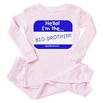 I'm the big brother Toddler Pink Pajamas
