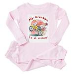 Grandpa Biker Toddler Pink Pajamas