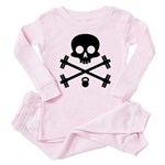 Skull and Cross Fitness Toddler Pink Pajamas