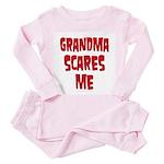 Grandma scares me Toddler Pink Pajamas