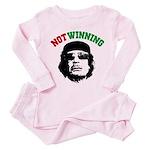 Gaddafi Not Winning Toddler Pink Pajamas