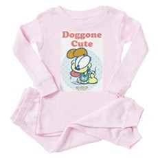 Doggone Cute Odie Baby Toddler Pink Pajamas