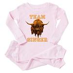 Team Ginger Scottish Highland Cow Toddler Pink Paj