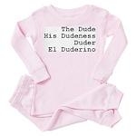 El Duderino Toddler Pink Pajamas