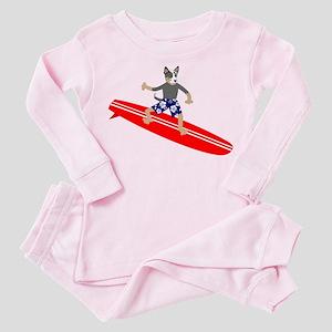 Australian Cattle Dog Surfer Toddler Pink Pajamas