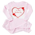 Babys First Valentines Day Toddler Pink Pajamas