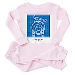 moo print Toddler Pink Pajamas