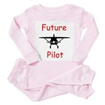 Future Pilot Toddler Pink Pajamas