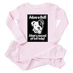 Adore-A-Bull 2! Toddler Pink Pajamas