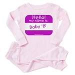 baby b nametag (pink) Toddler Pink Pajamas