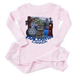 Vancouver Canada Souvenir Toddler Pink Pajamas