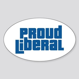 Proud Liberal Oval Sticker