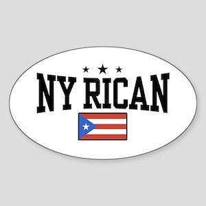NY Rican Oval Sticker