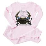 Space Crabs Toddler Pink Pajamas