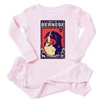 Bernese Mountain Dog! Baby / Toddler Pink Pajamas