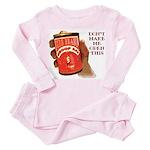 Can 'O Whoop Ass Toddler Pink Pajamas