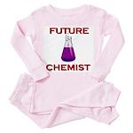 Future chemist Toddler Pink Pajamas