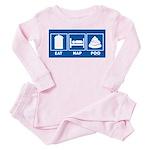 eat nap poo sign Toddler Pink Pajamas