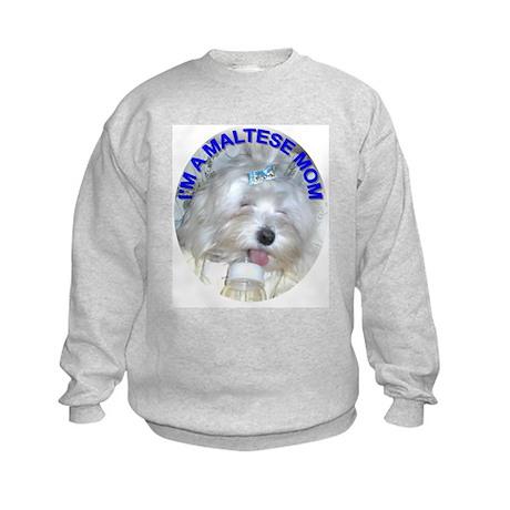I'm A Maltese Mom Kids Sweatshirt
