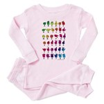 RBW Fingerspelled ABC Toddler Pink Pajamas