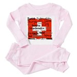 Swiss Cantons Flag Toddler Pink Pajamas