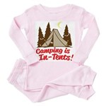 Camping Is In-Tents Toddler Pink Pajamas