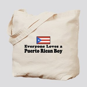 Puerto Rican Boy Tote Bag