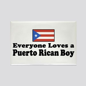 Puerto Rican Boy Rectangle Magnet