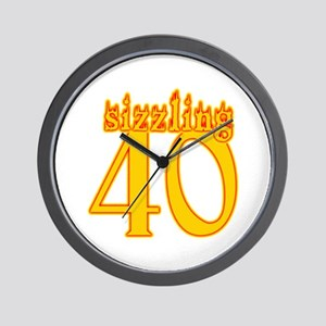Sizzling 40th Birthday Wall Clock