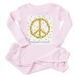 Give Bees a Chance Toddler Pink Pajamas