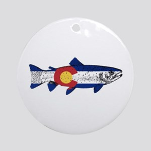 Fish Colorado Round Ornament