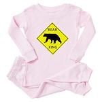 Bear Crossing Toddler Pink Pajamas