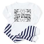 New Orleans Wrought Iron Design Toddler Pajamas